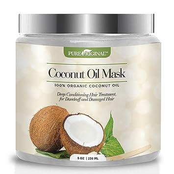 Amazon Com Pure Original Organic Coconut Oil Hair Mask Natural