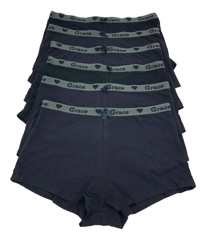 f8f0ca399 Amazon.com  6 pieces Women Cotton Boyshorts Panty Briefs Sports Underwear  S-4XL  Clothing