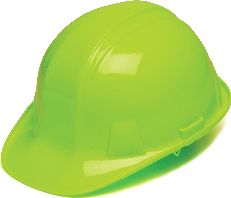 Pyramex Products HP14131 Sl Series 4 Pt. Ratchet Suspension Hard Hat, Hi Vis Lime