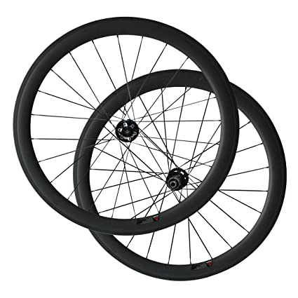 700c Disc Wheelset >> Amazon Com 700c Disc Brake Hub 50mm Tubeless Ready Carbon