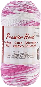 Premier Yarns Home Cotton Grande Yarn, Multi-Cotton Candy