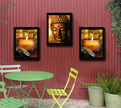 TiedRibbons Lord Buddha Framed Paintings for Home Decoration Set of ...