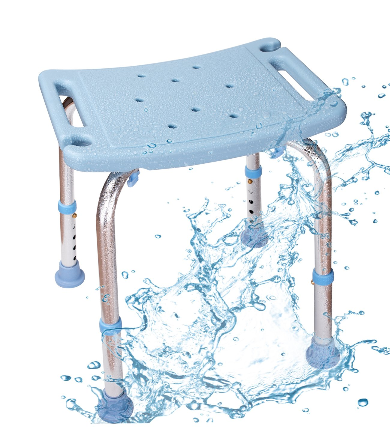 Amazon.com: Shower Chair with Non-Slip Seat,Shower Bench Bath Chair ...