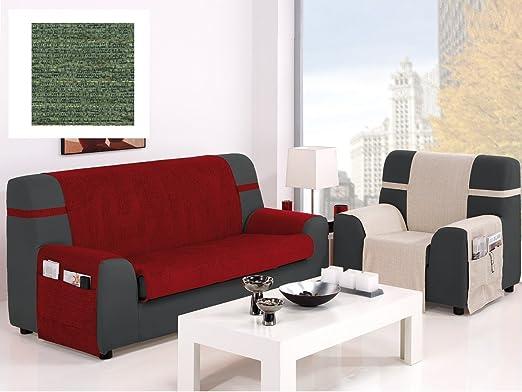 textil-home Funda Cubre Sofá KIOTO, 3 Plaza (160Cm). Color Verde