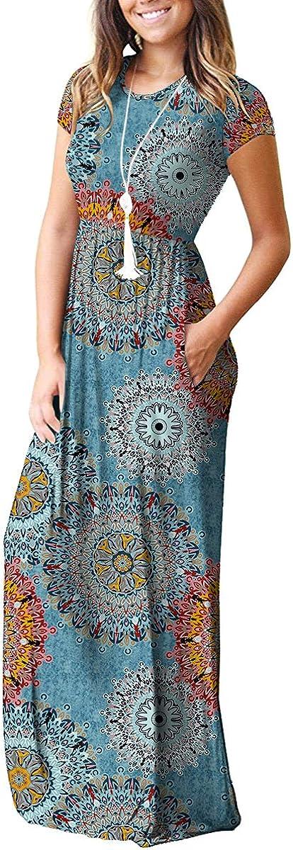 VIISHOW Womens Short Sleeve Casual Loose T-Shirt Dress