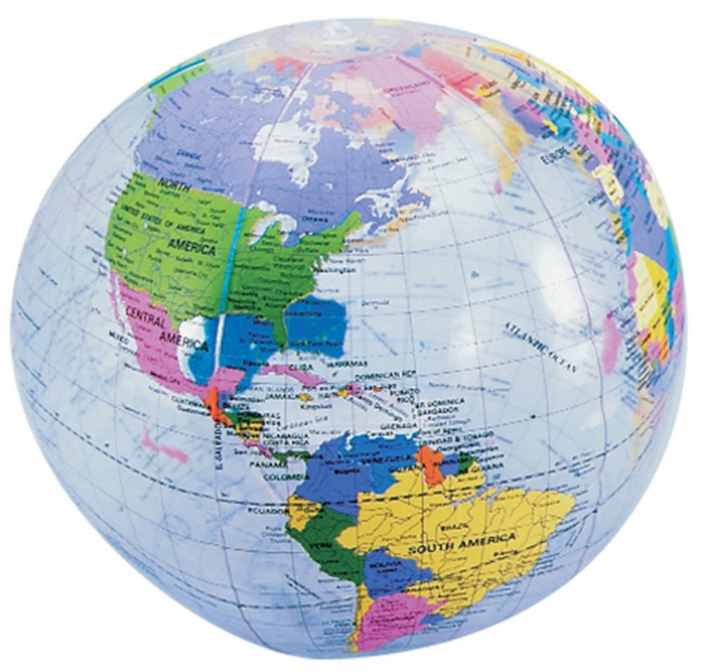 Inflatable Globe World Map.  Amazon com Clear Inflatable World Globe Home Kitchen