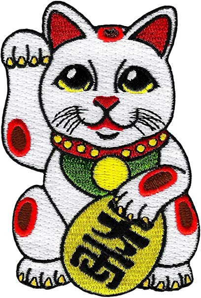 Japanese Lucky Cat Embroidered Patch