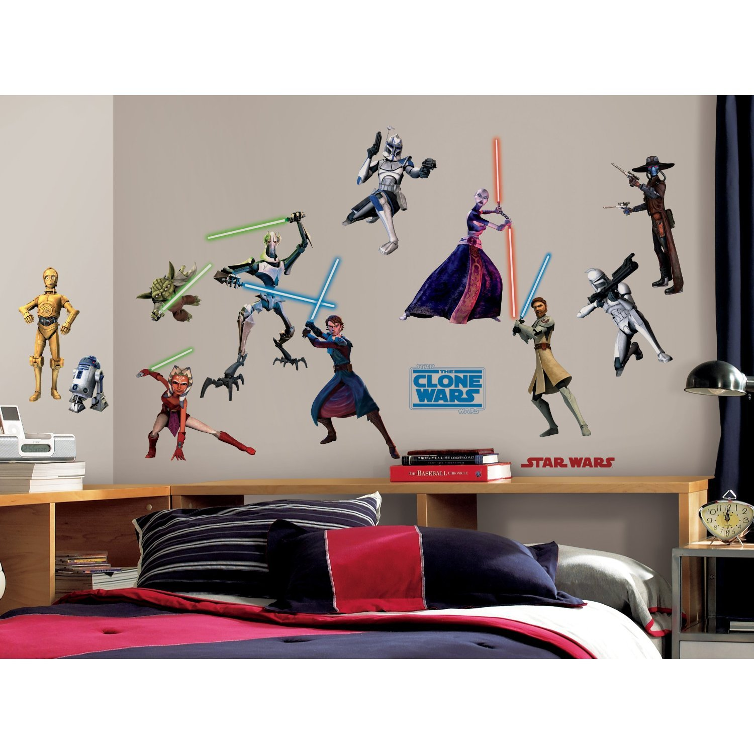 Perfect Amazon.com: RoomMates RMK1382SCS Star Wars: The Clone Wars Glow In The Dark Wall  Decals, Pack Of 28: Home Improvement