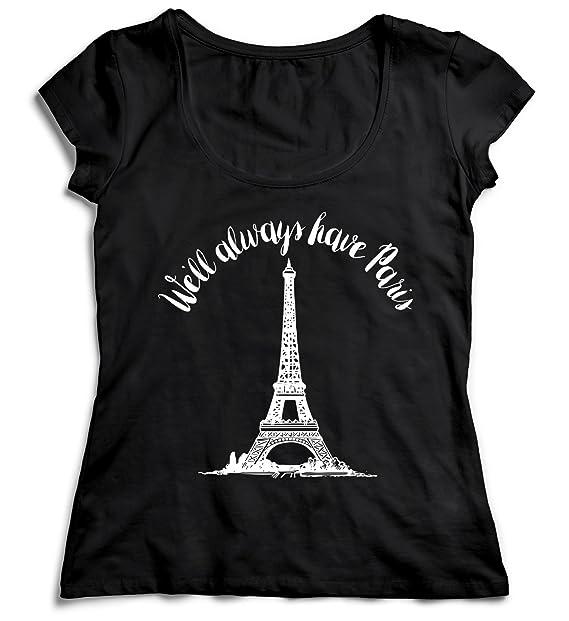 Cumpleaños Algodón Camiseta Paris Regalo es Tshirt Always Amazon Will Women's Shirt Negra We Mujer La De Mujer Love 100 Para Women Navidad Camisa T gtYHwpaq