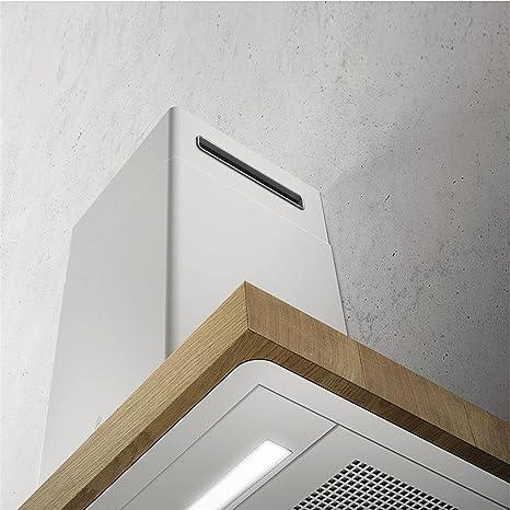Campana Cocina Elica pared Bio madera y metal color blanco 90 cm: Amazon.es: Grandes electrodomésticos