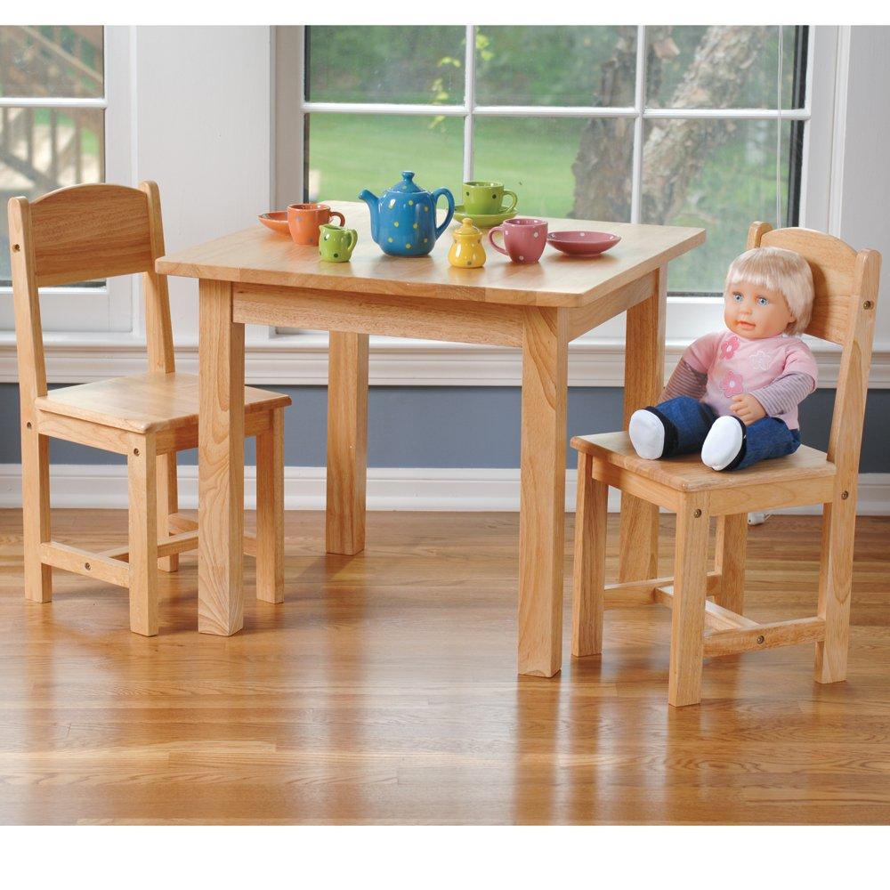 Solid Hardwood Table & Chairs For Kids