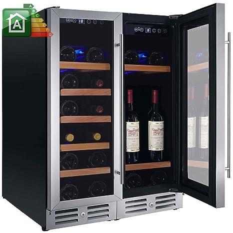 Nevera de vino de 42 botellas. Nevera para vinos Nevada yN-NW42D-S ...