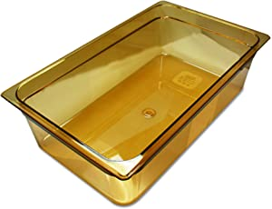 Rubbermaid FG232P00AMBR Full Size Multi-Use Hot Food Pan, 20-5/8 Quart | Amber