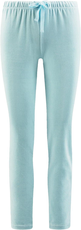 oodji Ultra Femme Pantalon dInt/érieur avec Ceinture /Élastiqu/ée et Cordon de Serrage