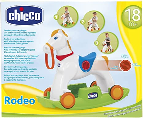 Chicco 70603 Chicco Rodeo Gioco Cavalcabile 3 in 1, Multicolore