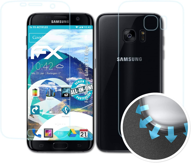 atFoliX Película Protectora Compatible con Samsung Galaxy S7 Edge Protector Película, Ultra Claro y Flexible FX Lámina Protectora de Pantalla (Set de 3): Amazon.es: Electrónica