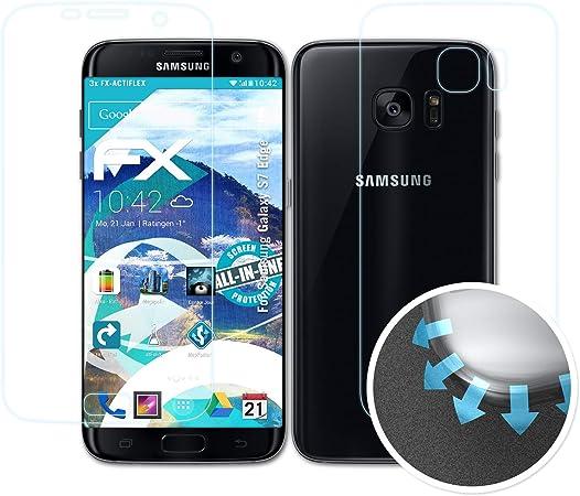 atFoliX Película Protectora para Samsung Galaxy S7 Edge Protector ...