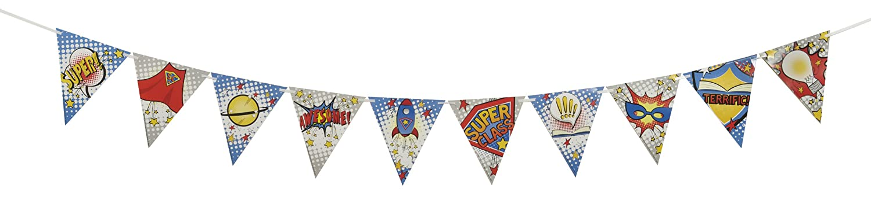 Eureka Dr. Seuss Classroom Decoration Circus Pennant Banner for School Teachers, 10' L 10' L Paper Magic Group 822203