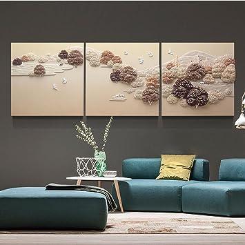 Wanghh Salon Décoration Peinture Moderne Relief Canapé Fond Mur 3d