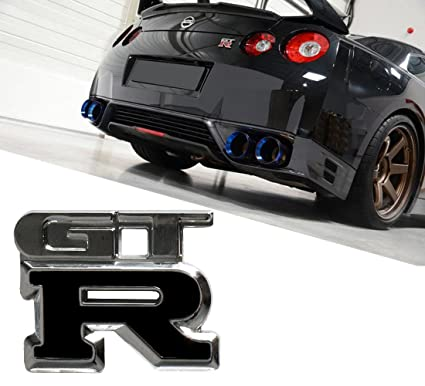 Amazon Com Deselen Lp Mo04 Nissan Gtr Car Logo Emblem Metal