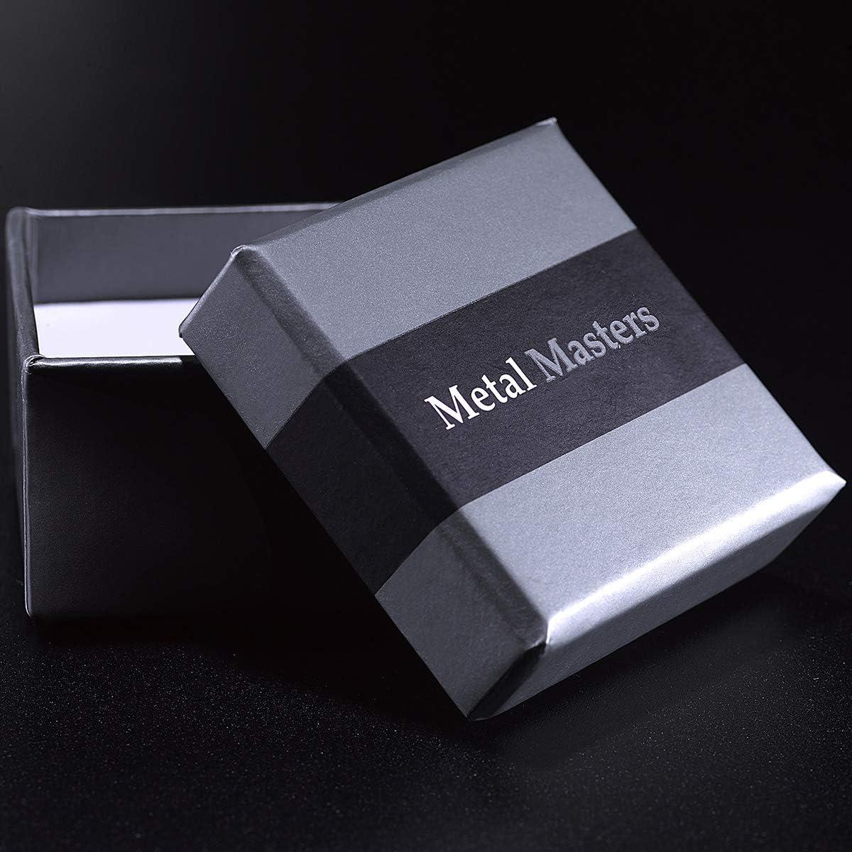 Metal Masters Co Anneaux de fiancailles en tungst/ène pour homme int/érieur Confort 8mm Bague de mariage en tungst/ène avec incrustation de m/ét/éorite