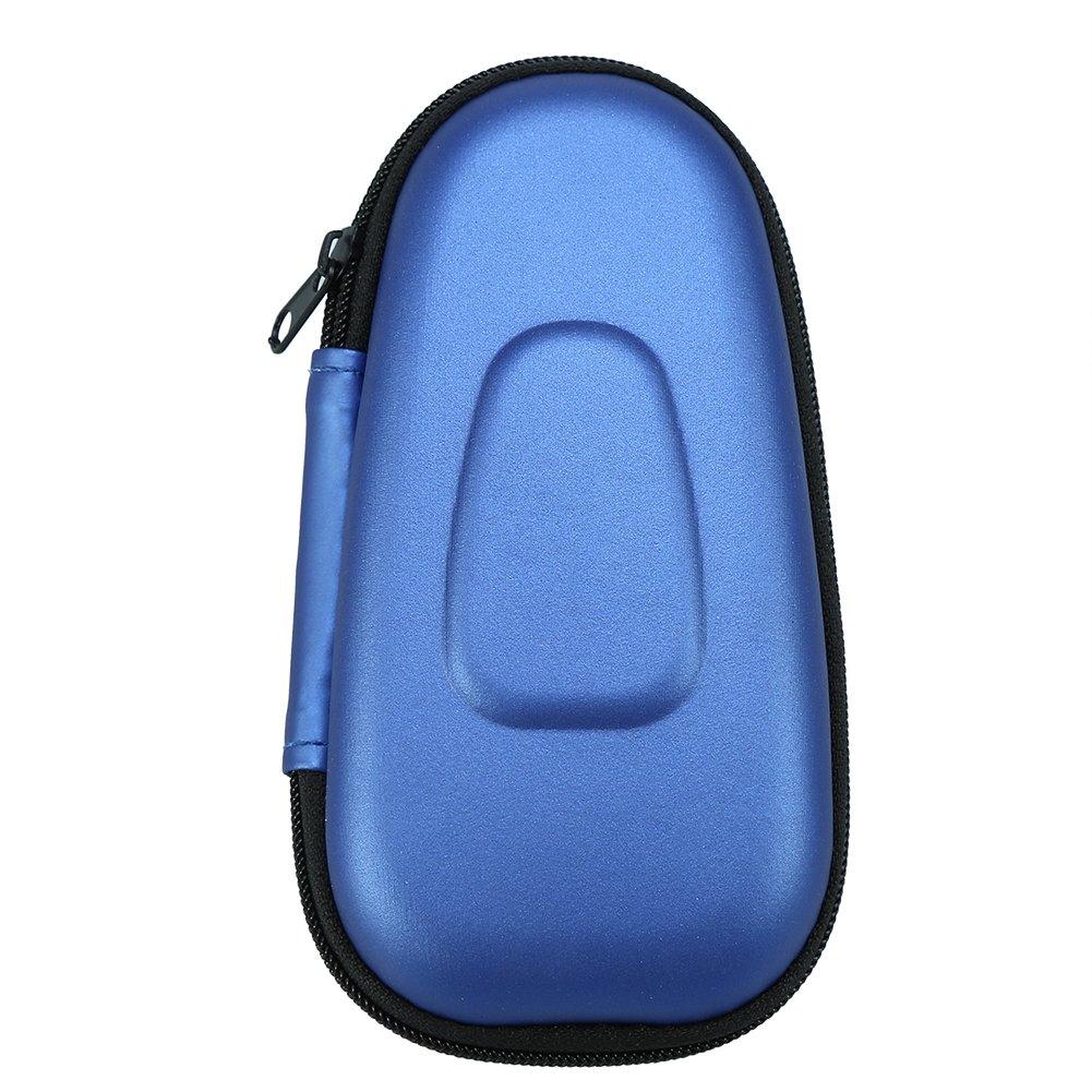 Caso duro de Afeitadora eléctrica, bolso que lleva de la máquina de afeitar eléctrica de la cuchilla doble del bolso de la paleta protectora del viaje de Aramox(Blue ...