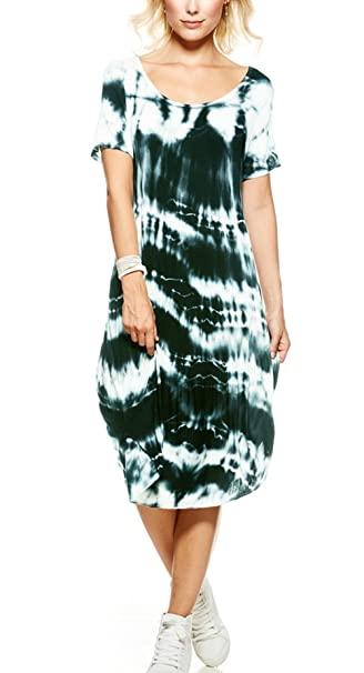 incredible prices compare price quality first Sevello Clothing Ladies Womens Italian Splash Tie Dye, Summer Dress