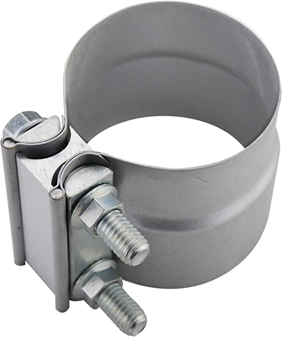 Muffler Stainless Steel for 2.75 inch Exhaust Pipe FINDAUTO 2.75 Butt Joint Exhaust Band Clamp Elbow and Exhaust Tubing Connection