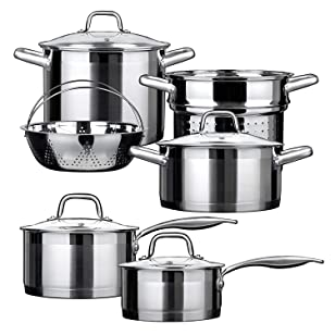Duxtop Professional Stainless Steel Cookware Set With Impact Technology