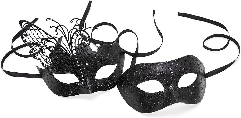 Couples Gold Women/'s Men/'s Masquerade ball Eye Mask Pair