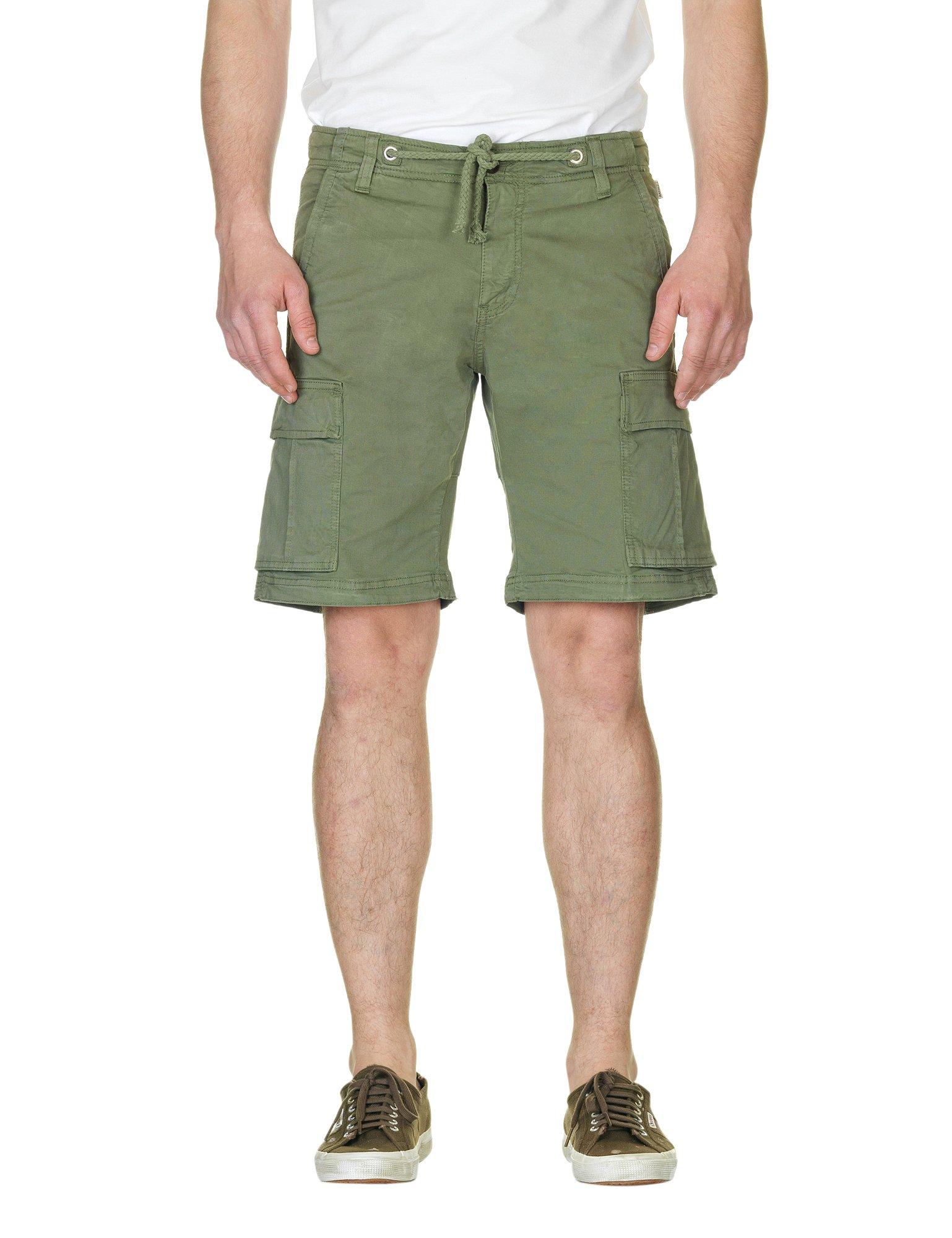 Franklin & Marshall Men's Men's Military Khaki Bermuda Shorts in Size 34 Green