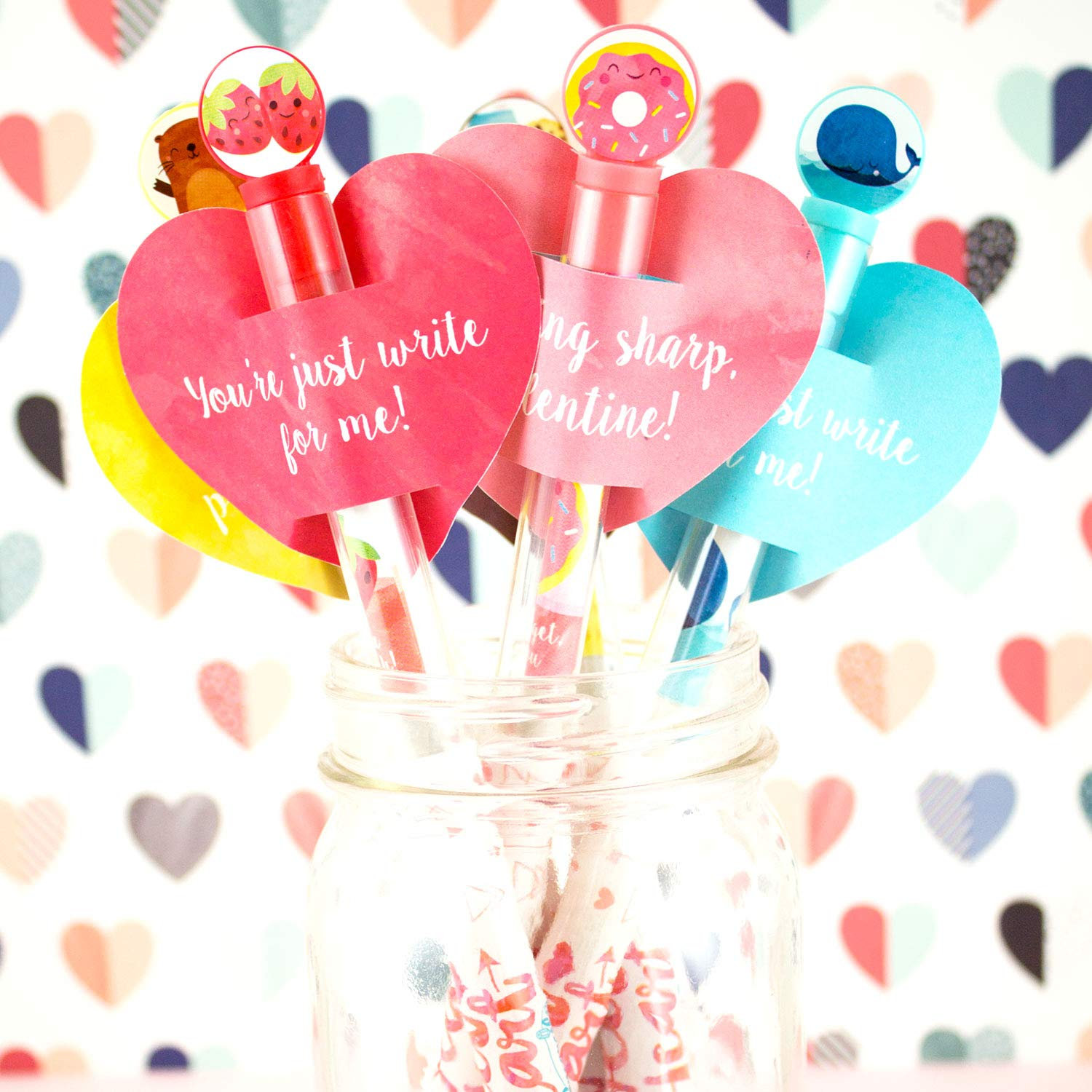 Scentco Sweetheart Smencils 5-Pack of HB no 2 Valentines Scented Pencils