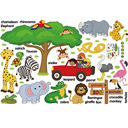 Amazon.com: Polly Online Educational Wall Stickers Wall Decoration ...