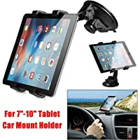king shine Car Full Rotating Suction Cup Adjustable Tablet Mount/Cradle Stand for 7 to 10 Inch Kindle/iPad (Black)