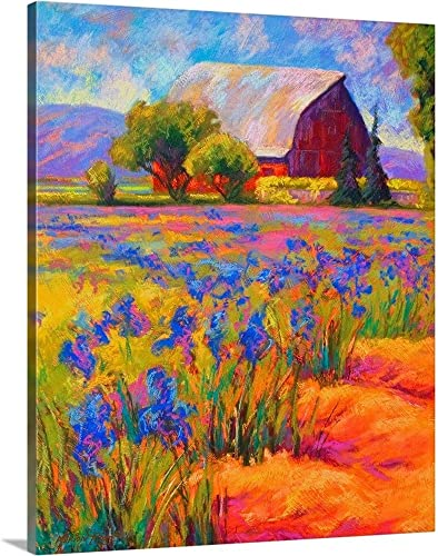 Iris Field Canvas Wall Art Print