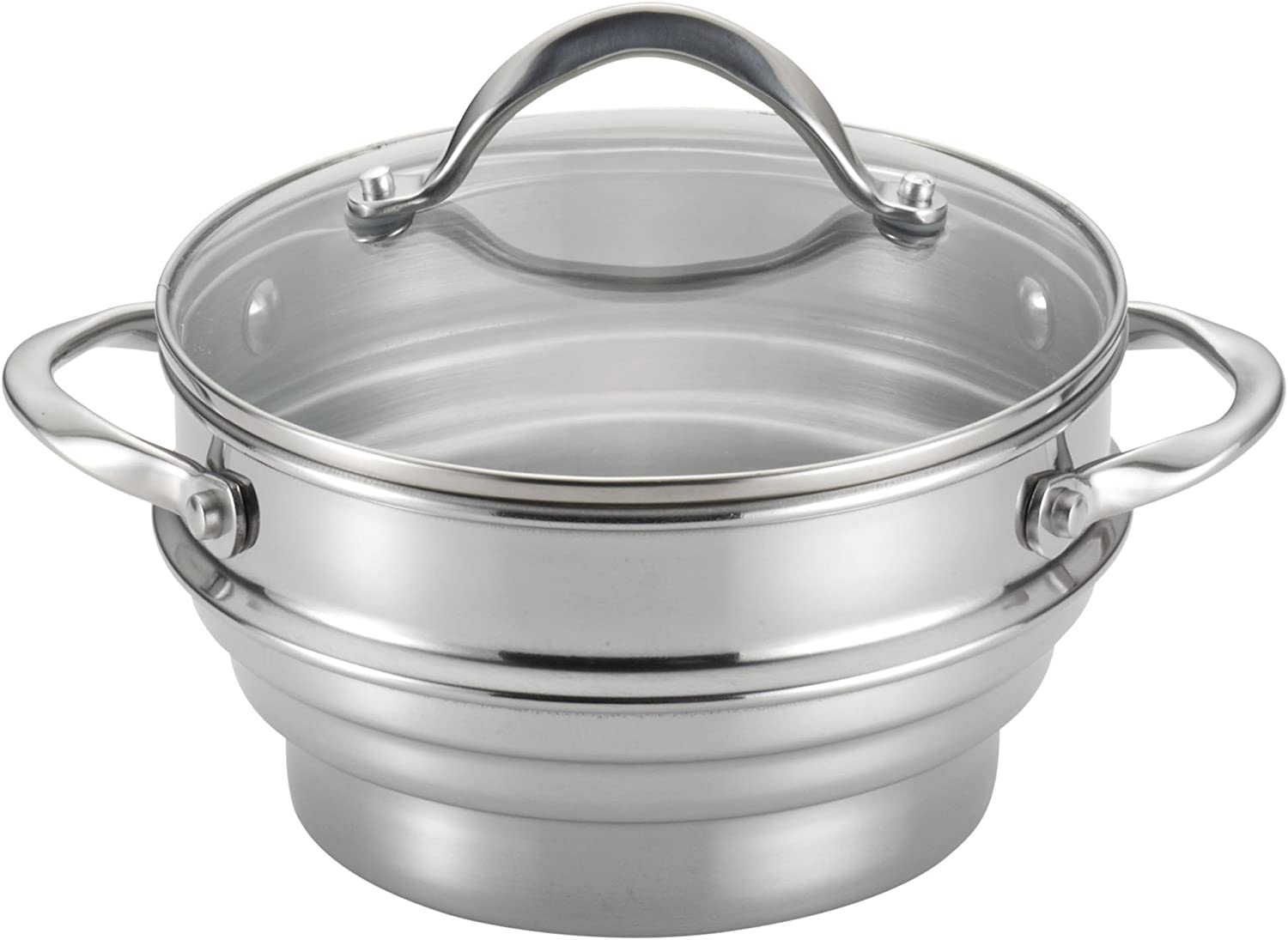 Circulon Stainless Steel Universal Steamer with Lid, Medium – 70135