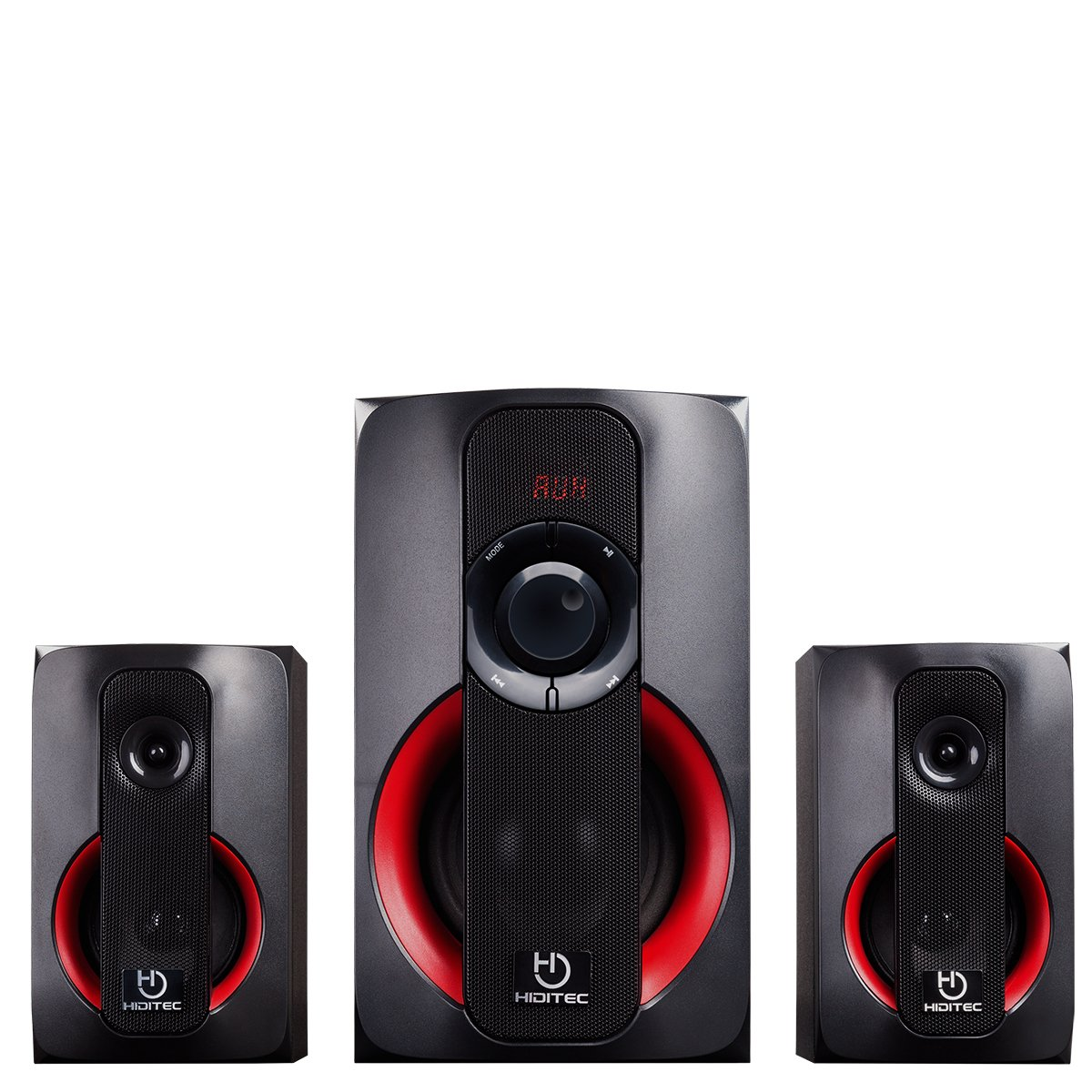 Hiditec - Altavoces H400 - Sistema de sonido 2.1 (Bluetooth 4.1, USB, SD, 40W RMS, Line-In) SPK010000