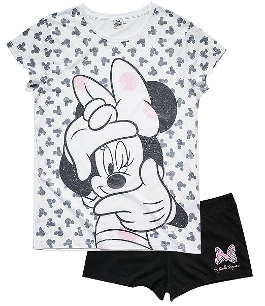 Disney Minnie Mujeres Pijama mangas cortas - Blanco - XL