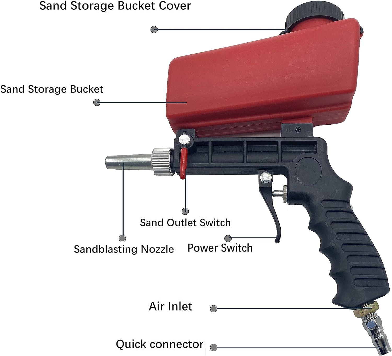 blast blaster sand sandblaster air gun cabinet sandblasting abrasive blasting