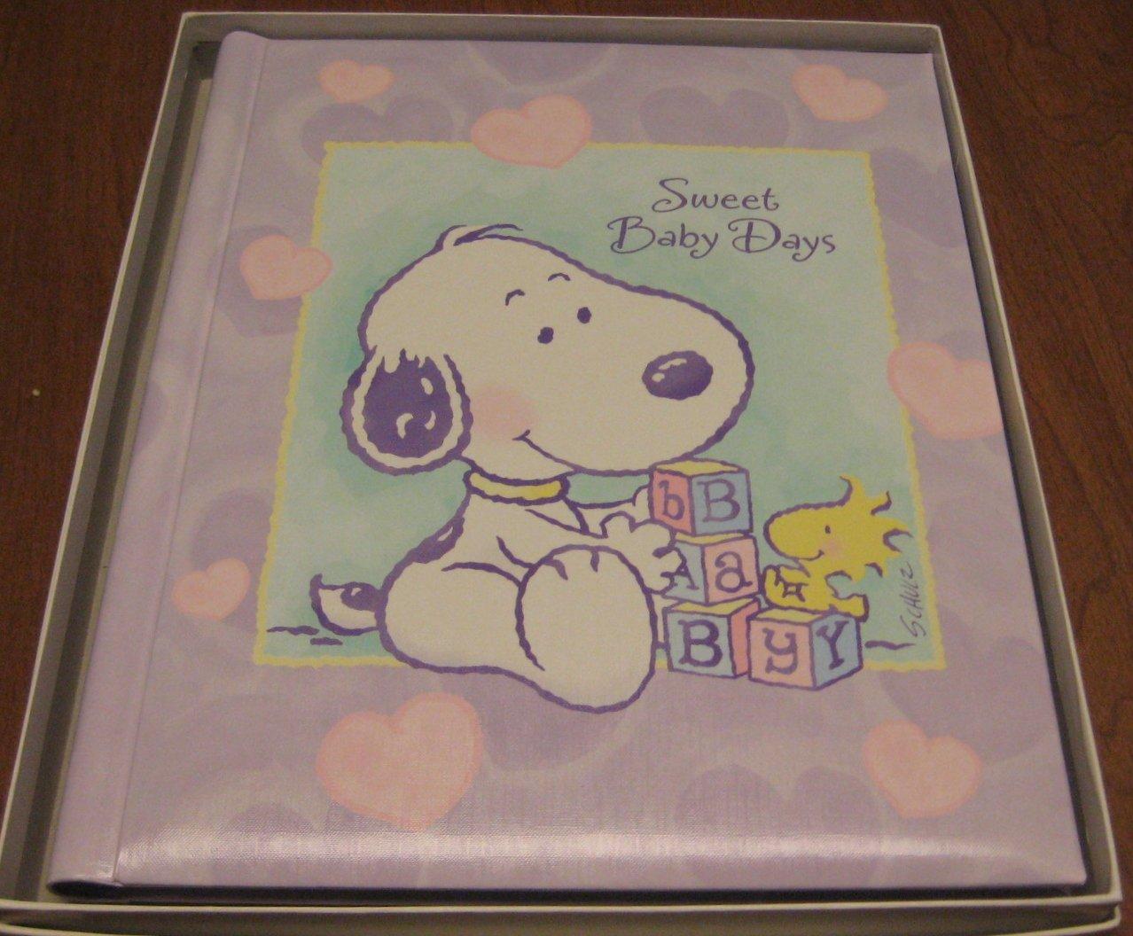 Hallmark Baby Snoopy Album - Sweet Baby Days - Keepsake Book