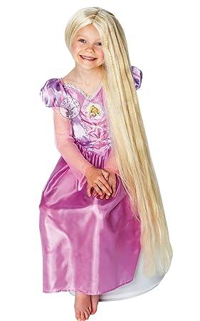 Rapunzel Resplandor en la Peluca Oscura - Disney - Niños del Vestido de Lujo Peluca -