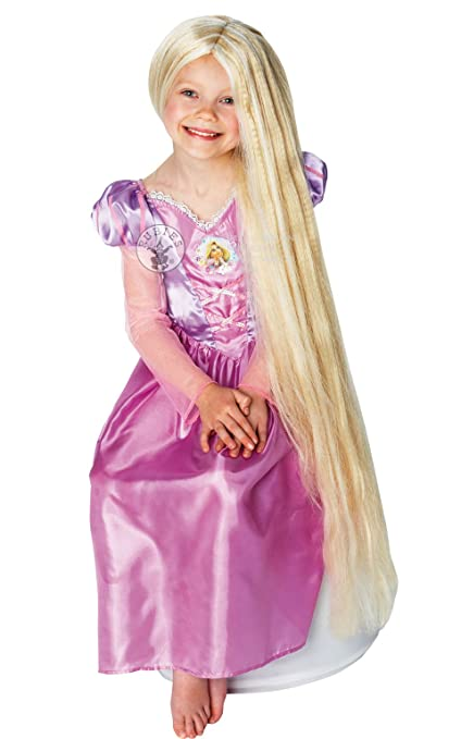 Childrens Rapunzel Glow In The Dark Wig