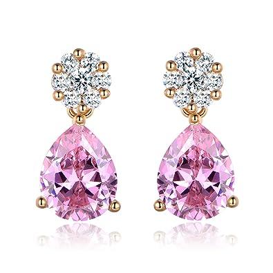 [Sponsored]MASOP Charming 18K Gold Plated Cubic Zirconia Teardrop Dangle Earrings for Women R2ld54