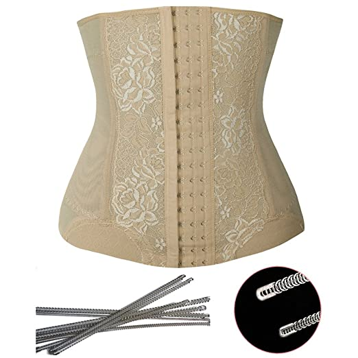 2694c82aa1 Image Unavailable. Image not available for. Color  FLORATA Waist Cincher  Fashion Body Shaper for Weight Loss 7 Spiral Steel Boned Waist Trainer  Underbust