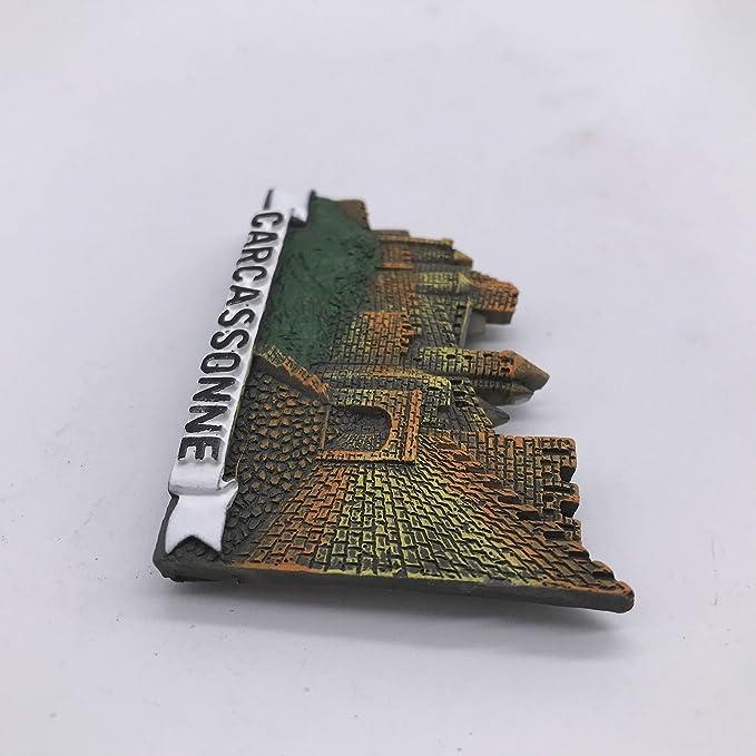 3D Carcassonne Francia Nevera Imán de Nevera Recuerdos Turísticos Hecho A Mano de Resina Artesanía Pegatinas Magnéticas Inicio Cocina Decoración Regalo de Viaje: Amazon.es: Hogar