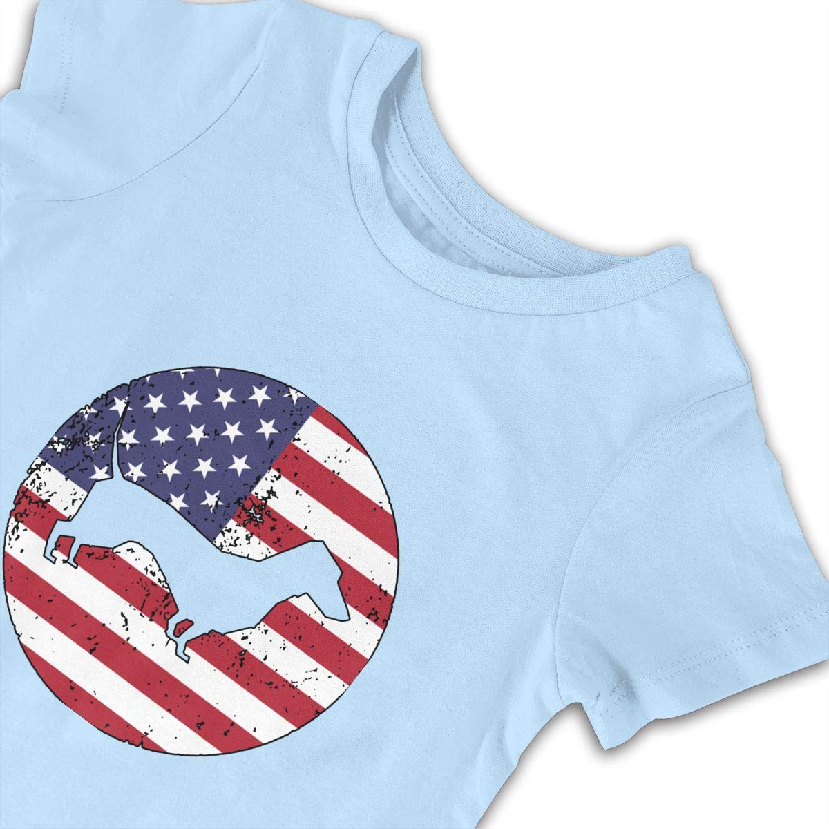 A1BY-5US Baby Infant Toddler Romper Jumpsuit American Flag Dachshund Cotton Short Sleeve Climb Jumpsuit