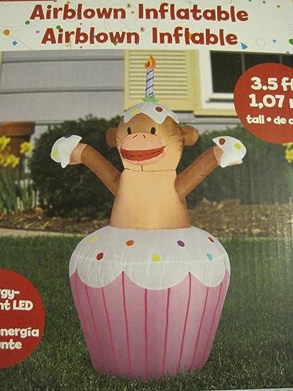 Amazon.com: airblown Feliz cumpleaños Cupcake inflable con ...