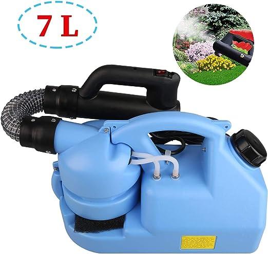 WANGCAI Portátil Ultra-Baja atomizador Desinfección eléctrica pulverizador ULV nebulizador rociador de jardín, Incluye la Correa Que Lleva - Gran 110V Capacidad del área de desinfección 7L: Amazon.es: Jardín