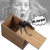 YYCOOL Broma araña Asusta Caja de Madera, Broma