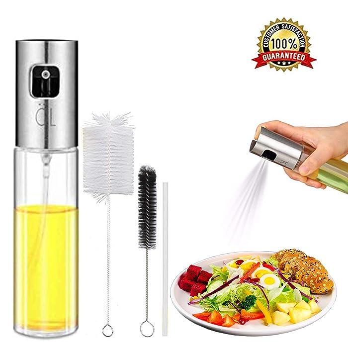 Olive Oil Spritzer Sprayer Bottle for Air Fryer Cooking Oil Mister for Vinegar Canola Vegetable Oil Portable Mini Kitchen Gadgets on BBQ/Pan/Salads/Baking